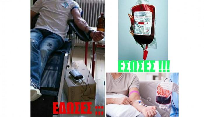 Εθελοντική αιμοδοσία πραγματοποιούν την Κυριακή οι Δότες Ζωής