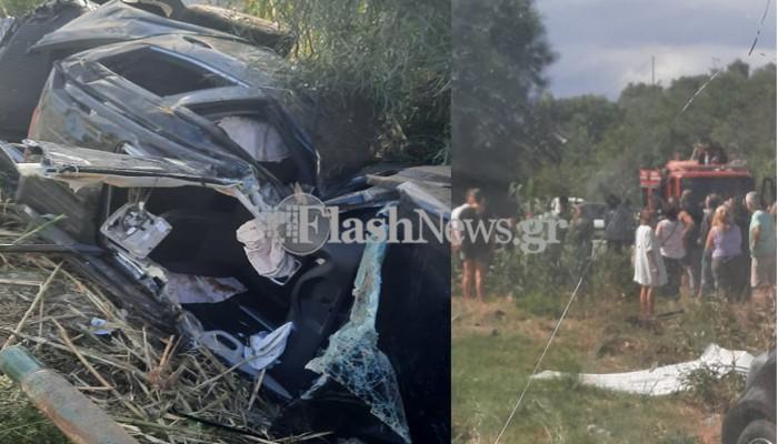 Σοβαρό τροχαίο ατύχημα στην εθνική οδό Χανίων - Ρεθύμνου - Δυο πολυτραυματίες (φωτο)