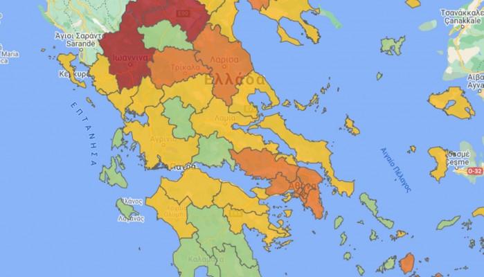 """Κορωνοϊός: Αυτές οι περιοχές περνούν από το """"πράσινο"""" στο """"κίτρινο"""""""