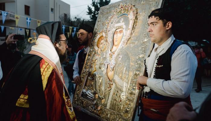 Τα Κουνουπιδιανά υποδέχτηκαν την Παναγία την Τριχερούσα