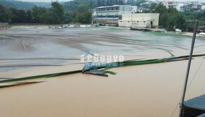 Ρέθυμνο: Καταστράφηκε το γήπεδο Περάματος (φωτο+βιντεο)