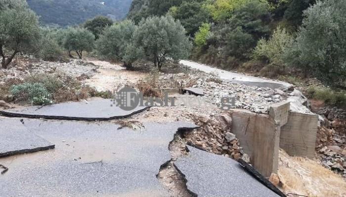Μεγάλες καταστροφές στην ανατολική Κρήτη από την ραγδαία βροχή (φωτο)