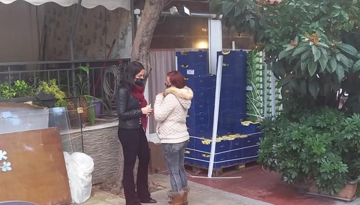 Η Δόμνα Μιχαηλίδου συνάντησε τον Χανιώτη που προσφέρει δωρεάν γεύματα σε απόρους (φωτο)