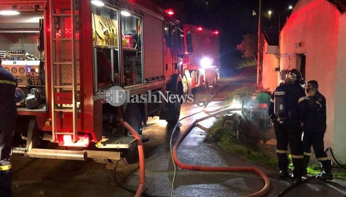Χανιά: Μεγάλη φωτιά σε σπίτι στο Μόδι! Κάηκε ολοσχερώς σπίτι (φωτο)