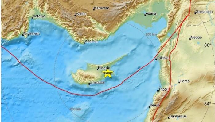 Ισχυρός σεισμός έγινε αισθητός στην Κύπρο