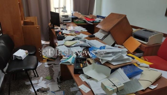 Διαρρήκτες «διέλυσαν» το  Εργατικό Κέντρο Χανίων (φωτο – βίντεο)