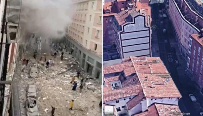 Ισχυρή έκρηξη στο κέντρο της Μαδρίτης (βίντεο)