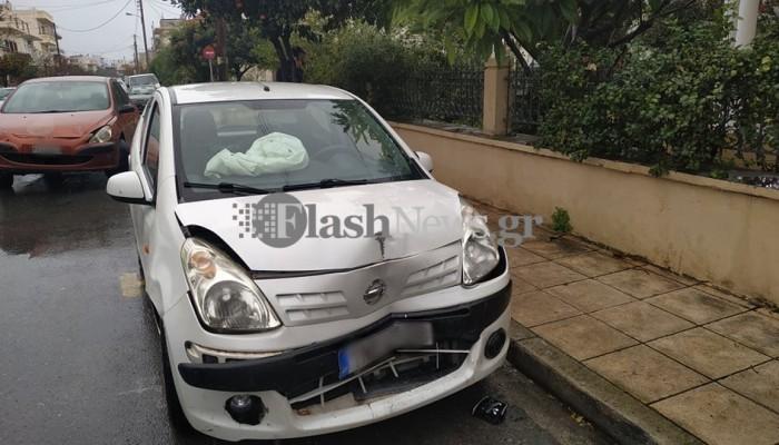 Τροχαίο ατύχημα στα Χανιά - Στο νοσοκομείο μία γυναίκα (φωτο)