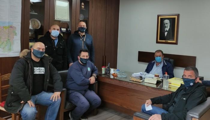 Μέλη Δ.Σ. Ένωσης προσωπικού Λιμενικού Σώματος Δυτικής Κρήτης στον Δήμο Κισσάμου