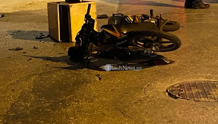 Χανιά: Τροχαίο ατύχημα στη Σούδα - Στο νοσοκομείο ένα άτομο (φωτο)