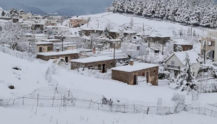 Π.Ε. Ρεθύμνου: Χιονοπτώσεις και ισχυροί άνεμοι - Τι συμβαίνει με το οδικό δίκτυο