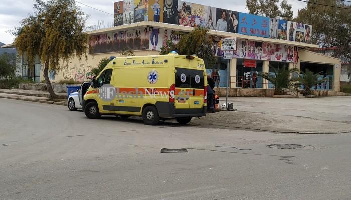 Χανιά: Τροχαίο με τραυματισμό στη λεωφόρο Σούδας - Έσπευσε το ΕΚΑΒ (φωτο)