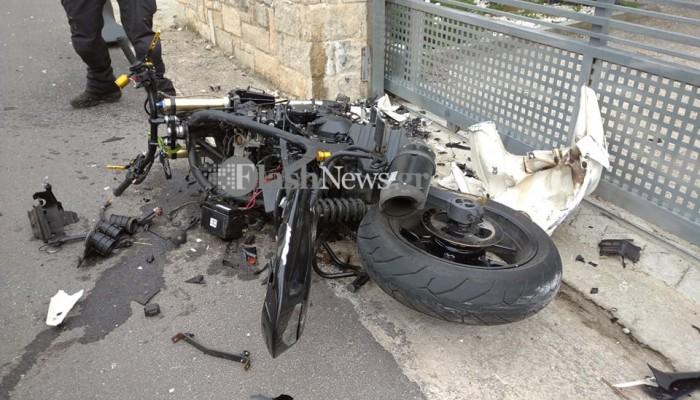 Θανάσιμος τραυματισμός οδηγού μοτοσικλέτας στα Χανιά (φωτο)