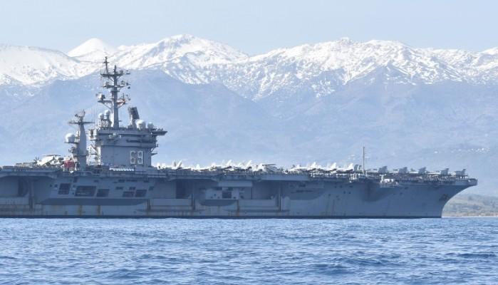 USS Dwight D. Eisenhower: Εντός της βάσης στα Χανιά, τα 5.500 μέλη του πληρώματος (φωτο)
