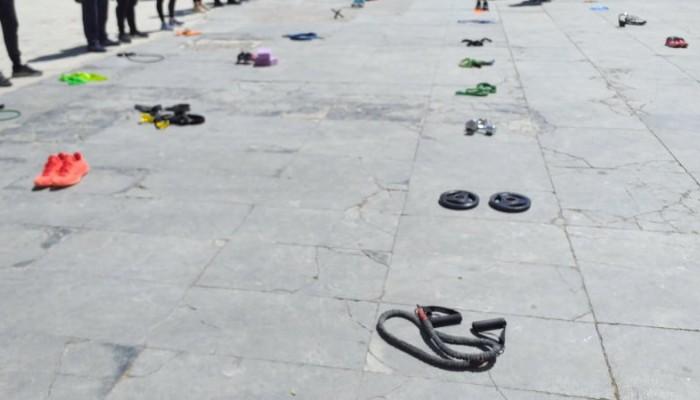 Ηράκλειο: Στους δρόμους ιδιοκτήτες, εργαζόμενοι γυμναστηρίων (φωτο)