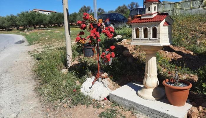 Κρήτη: Έφτιαξαν εικονοστάσι για τη μητέρα που χάθηκε με την 3χρονη κόρη της σε τροχαίο