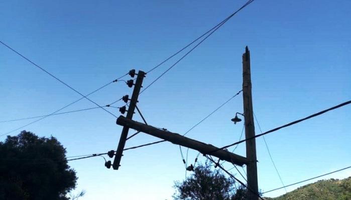 Χανιά: Διακοπές ηλεκτροδότησης λόγω σπασμένων στύλων