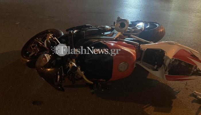 Τροχαίο ατύχημα τα ξημερώματα στα Χανιά - Ένας άνδρας στο Νοσοκομείο (φωτο)
