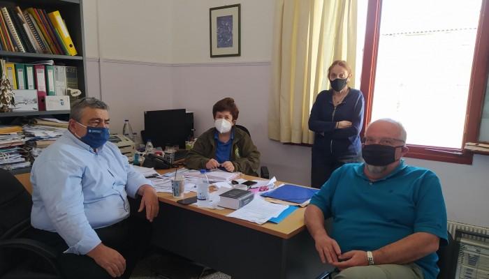 Στη Δ/νση Δασών Χανίων ο Νίκος Καλογερής για τους δασικούς χάρτες