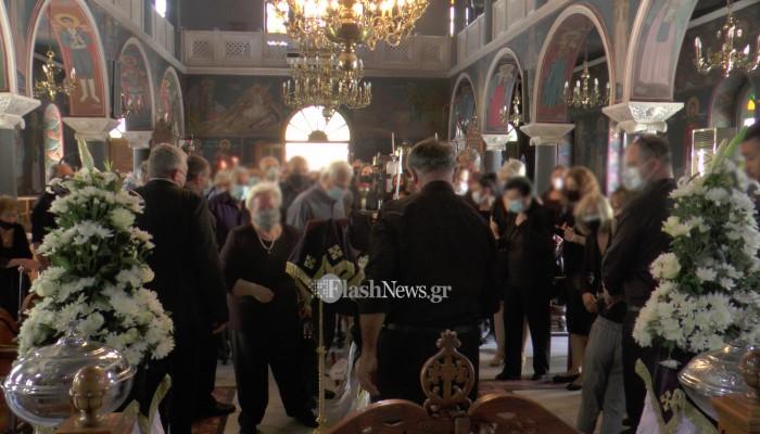Το τελευταίο αντίο στον πρώην δήμαρχο Ρεθύμνου από οικείους και φορείς (φωτο)