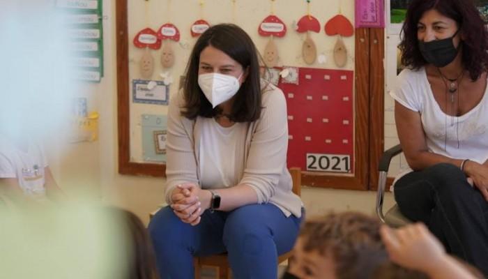 Εντυπωσιασμένη η Νίκη Κεραμέως από την επίσκεψή της σε σχολεία στα Χανιά