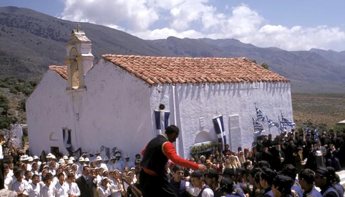 Μοναδικές φωτογραφίες από τον εορτασμό της Παναγιάς Θυμιανής το '71