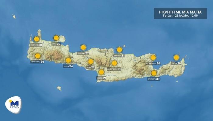 Ο καιρός για σήμερα στην Κρήτη