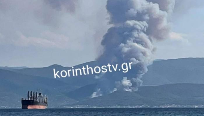 Μεγάλη φωτιά στην Κόρινθο