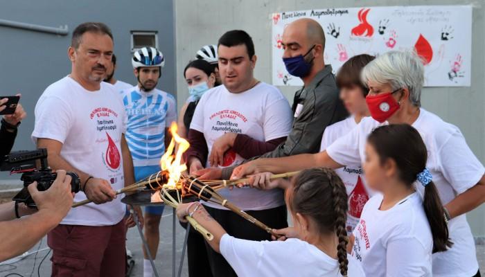 Τα παιδιά πρωταγωνιστές στη 19η Λαμπαδηδρομία Εθελοντών Αιμοδοτών στο Δήμο Μαλεβιζίου