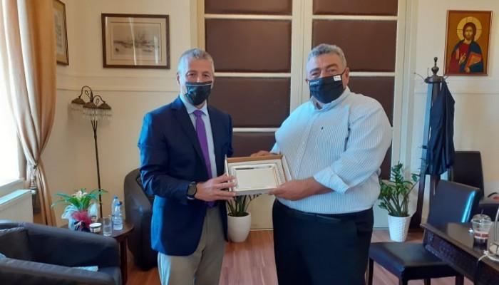Στην αντιπεριφέρεια Χανίων ο νέος Ακόλούθος Άμυνας της Αμερικανικής Πρεσβείας στην Αθήνα