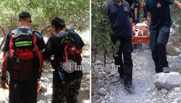 Επιχείρηση διάσωσης περιπατητή στην Σούγια Χανίων