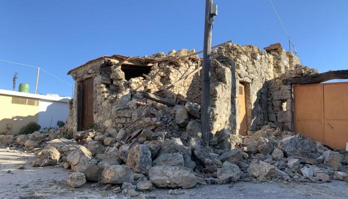 Η Ε.Α.Γ.Μ.Ε. στις σεισμόπληκτες περιοχές του Ηρακλείου (φώτος)