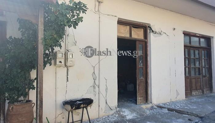Νέες καταρρεύσεις κτιρίων στην περιοχή του Αρκαλοχωρίου
