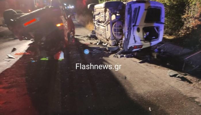 Τρομακτικό τροχαίο δυστύχημα στον ΒΟΑΚ στα Χανιά -Δυο νεκροί, 5 τραυματίες (βίντεο - φωτο)