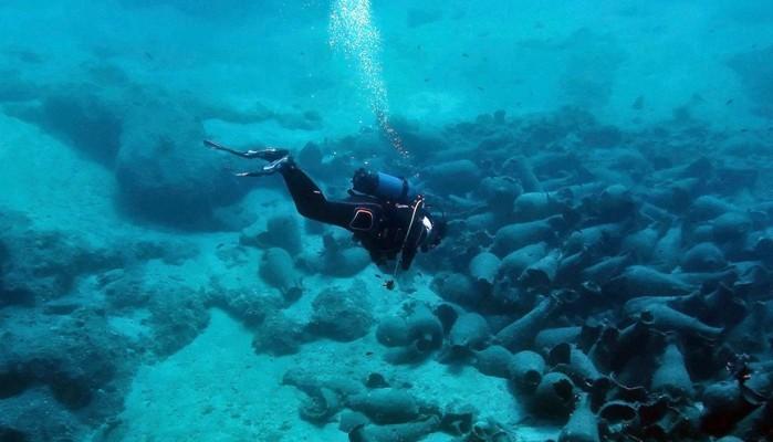 Εντυπωσιακές εικόνες από τη βυθισμένη αρχαία ακτογραμμή στον κόλπο Παλαικάστρου Σητείας