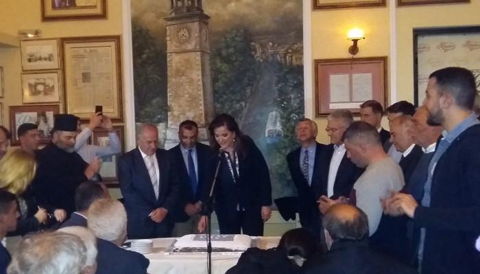 Ντ. Μπακογιάννη στην κοπή πίτας της ΝΟΔΕ: Ο κ. Αρναουτάκης πάει με το χθες