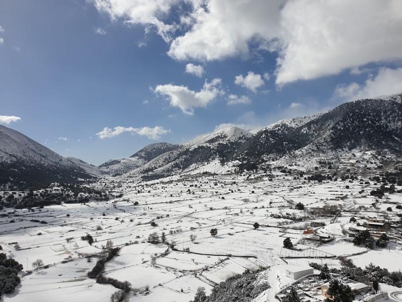 Зима на Крите: заснеженная Сфакья