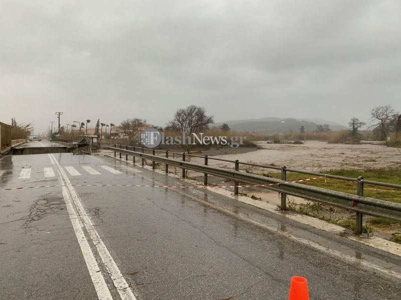 Огромные разрушения на Крите от циклона «Океанис»