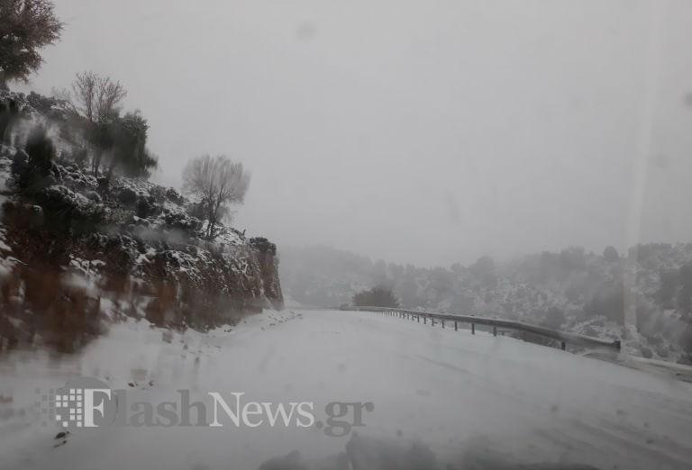 Πολύ χιόνι στον Ομαλό! Έχουν κολλήσει αυτοκίνητα, αναμένονται μηχανήματα καθαρισμού (Φώτο)
