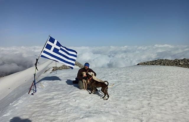 Greek flag on Xylaris