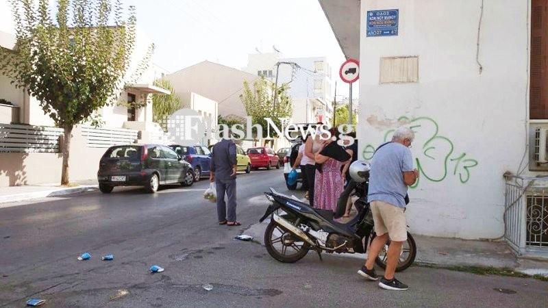 """Πρωινό τροχαίο στα Χανιά σε διασταύρωση """"καρμανιόλα"""" (φωτο)"""